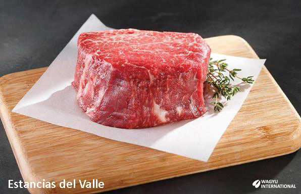 Wagyu fillet before cooking in Uruguay