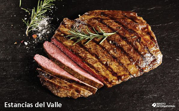 Cooked marbled Wagyu steak in Uruguay on Wagyu International page